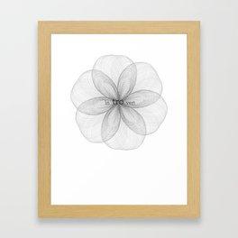 Introvert Spirograph Framed Art Print