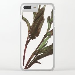 Flowing Lovely Floral Clear iPhone Case