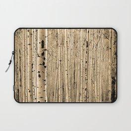 Aspen Tree Maze / Sepia Laptop Sleeve