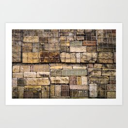 Caged Stones Art Print