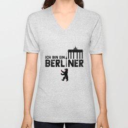 Ich Bin Ein Berliner Unisex V-Neck