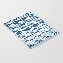 Glitch Waves - Classic Blue Notebook