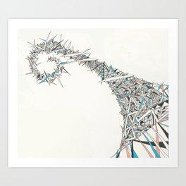 Migraine Aura Art Print