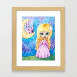 Castle Dreams Girl Framed Art Print