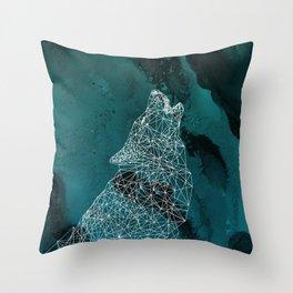 Midnight Wolfie II Throw Pillow