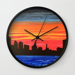 Toledo Skyline Wall Clock