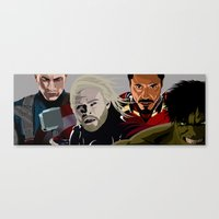 young avengers Canvas Prints featuring Avengers by burga