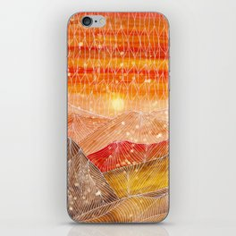 Lines in the mountains XXIV iPhone Skin