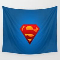superhero Wall Tapestries featuring SUPERHERO by Acus