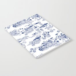 FLOOD IN ANTIQUE CHINESE PORCELAIN Notebook