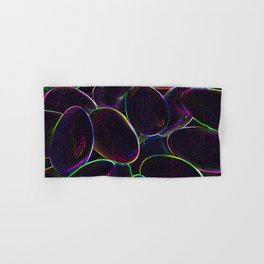 Psychedelic Candy Black Hand & Bath Towel