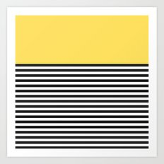 STRIPE COLORBLOCK {LEMON} Art Print