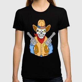 Western Cowboy Skull T-shirt