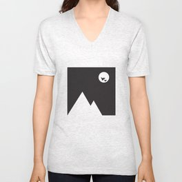ABSTRACT_02_ THE NIGHT Unisex V-Neck