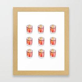 Summer Cocktails Framed Art Print