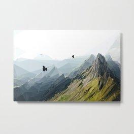 Mountain Scene Metal Print