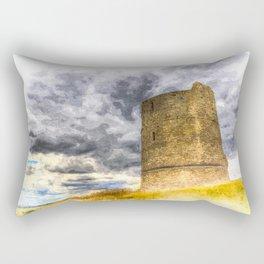 Hadleigh Castle Art Rectangular Pillow