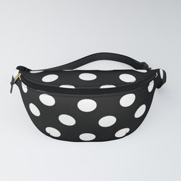 White Polka Dots on Black Fanny Pack
