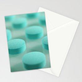 Blue Pills Pattern Stationery Cards
