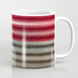 Industrial Wall | Red Grey Striped Wall | Contemporary Art Coffee Mug