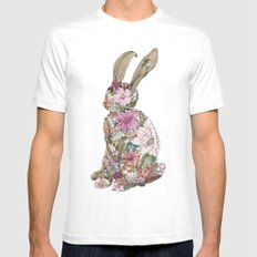 Spring Bunny Mens Fitted Tee MEDIUM White
