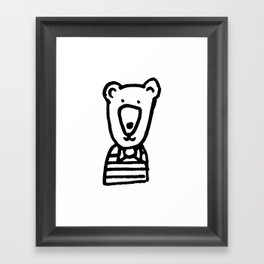 Monochrome bear nursery art Framed Art Print