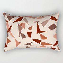 Modern Terrazzo - Warm Tones Rectangular Pillow