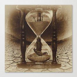 Sands of Time ... Memento Mori - Sepia Canvas Print