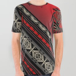 Horse Nation (Red) All Over Graphic Tee
