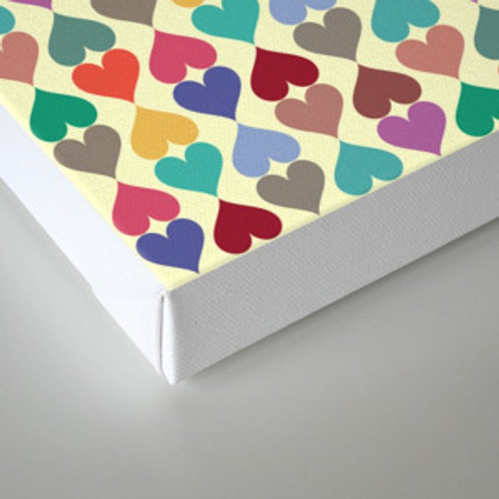 Colorful Love Pattern X Canvas Print