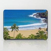 hawaiian iPad Cases featuring Hawaiian beach by Ricarda Balistreri