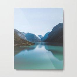 Norwegian Lake Metal Print