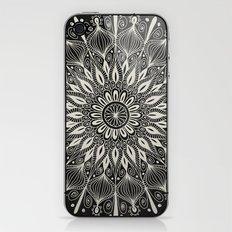 Vintage Mandala on black iPhone & iPod Skin