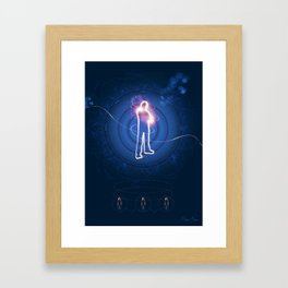 Human Light Siluette  Framed Art Print