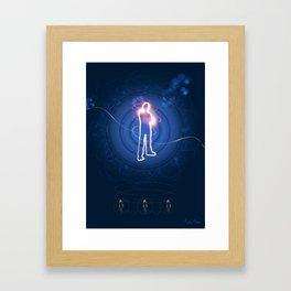 Human Light Siluette  Framed Art Print