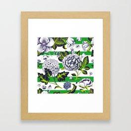 Modern Vintage Florals Framed Art Print