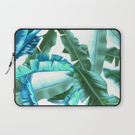 tropical banana leaves pattern turquoise Laptop Sleeve