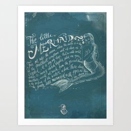 The Little Mermaid Art Print