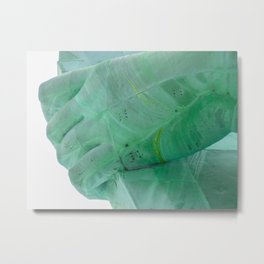 Detail of one hand - Statue of Liberty, New York City Metal Print