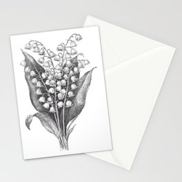 Vintage Snowdrops Stationery Cards