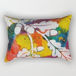 Leaves on the World Tree: Bulgarian Granit Oak Rectangular Pillow