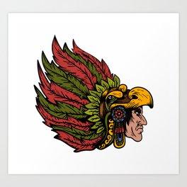 Indian Chieftain Head Illustration Art Print