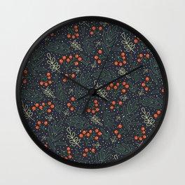 Festive Botanicals Wall Clock