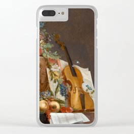 Still life with flowers and a violin, 1750 Clear iPhone Case