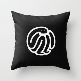 babble · negative ⎌ Throw Pillow