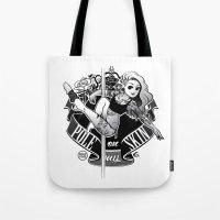 tatoo Tote Bags featuring Pole Friends - Tatoo by Pole Friends Shop