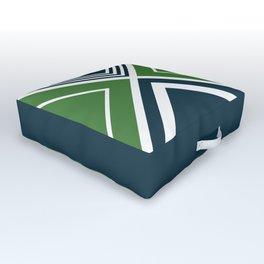 Nautical geometry 4 Outdoor Floor Cushion