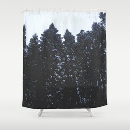 Cold Storm Shower Curtain