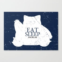 House Snorlax Canvas Print