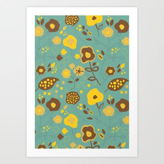 Fall Floral Art Print